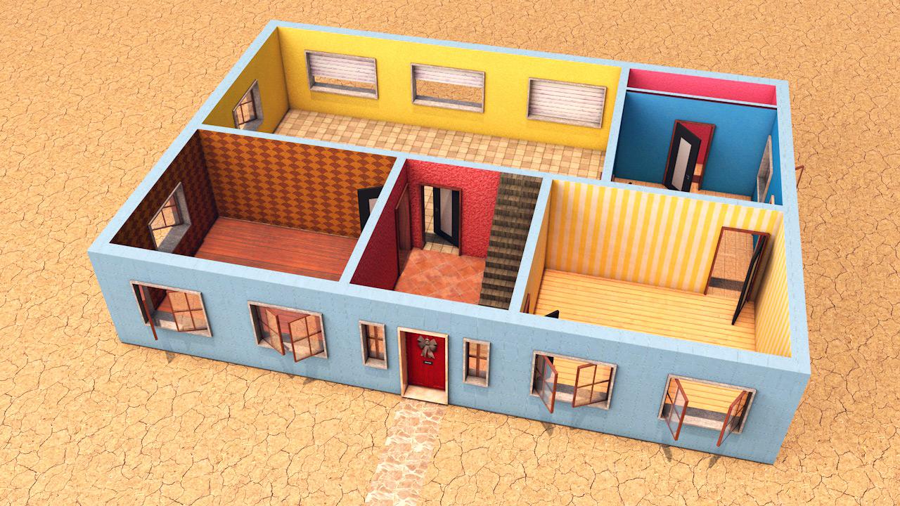 3d-illustratie-maquette-gelijkvloers
