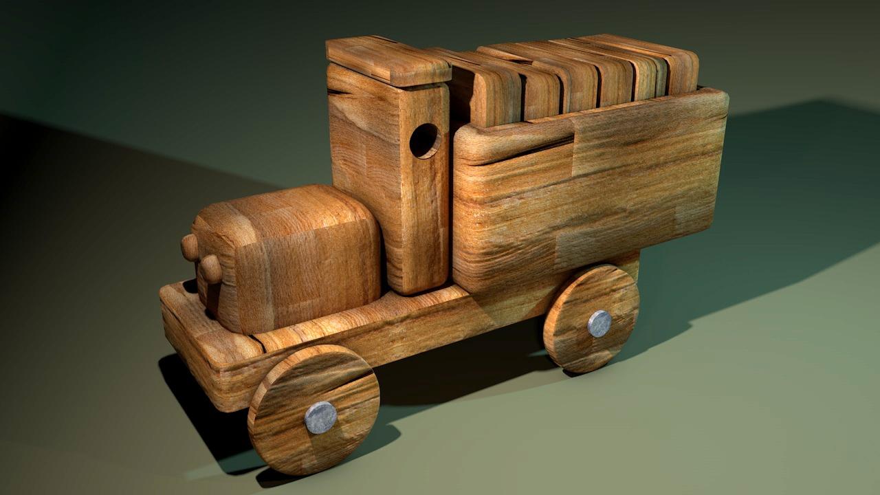 3d-illustratie-speelgoed-auto