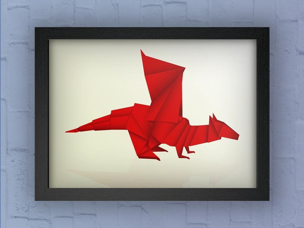 poster-origami-draak