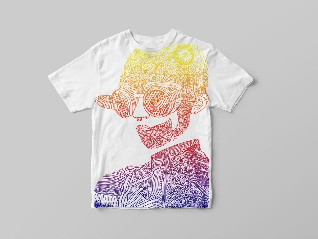 t-shirt-ontwerp-cyborg-bloemen-steampunk